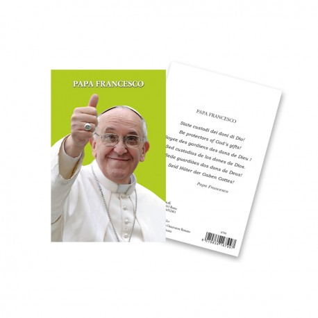 "Immagine sacra ""Papa Francesco"" con preghiera"