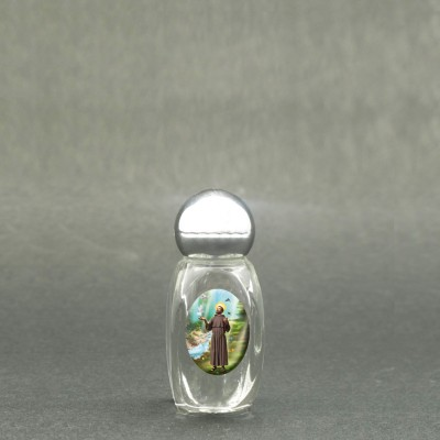 Saint Francis - Holy water bottle with sacred picture