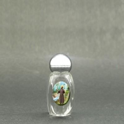 San Francesco - Bottiglietta per acqua santa con immagine sacra