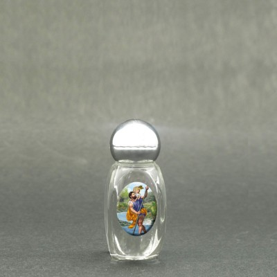 Saint Christopher - Holy water bottle with sacred picture