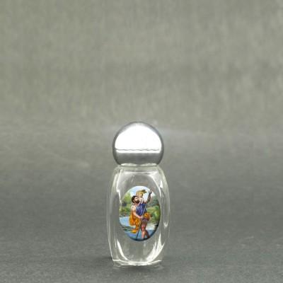San Cristoforo - Bottiglietta per acqua santa con immagine sacra