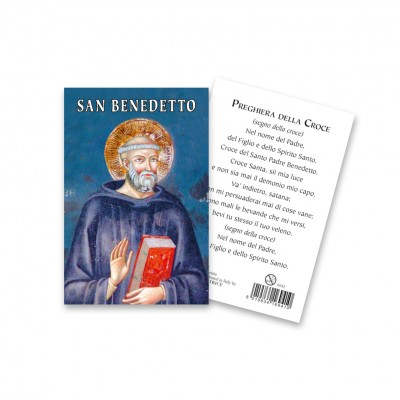 """Saint Benedict"" holy picture"