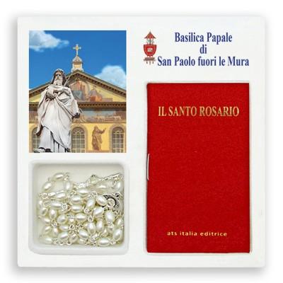 """Basilica San Paolo - Mini libro """"Il Santo Rosario"""" con rosario"""