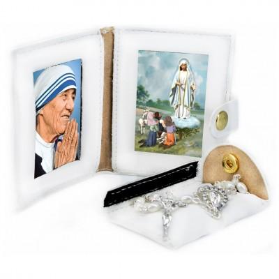 Madonna del Rosario - San Francesco Pochette PU con Rosario