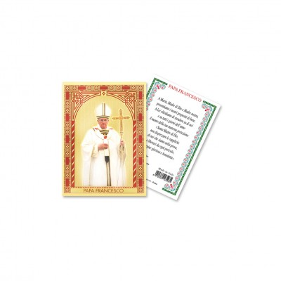 Papa Francesco - Immaginetta sacra laminata oro