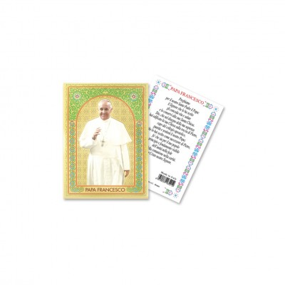 Pope Francis - Gold laminated holy picture