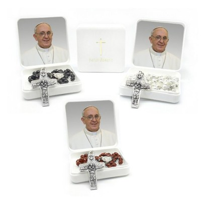 Papa Francesco - Scatola con Rosario