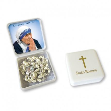 Santa Teresa di Calcutta - Scatola con Rosario