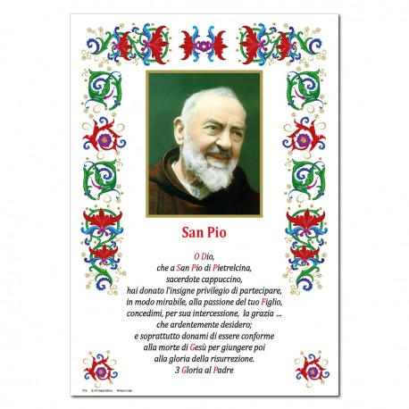 Saint Pio - Holy picture on parchment paper