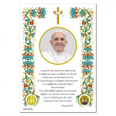 Pope Francis - Holy picture on parchment paper