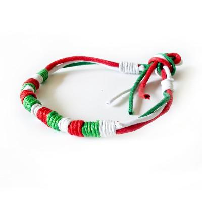 Bracciale corda con i colori dell'Italia