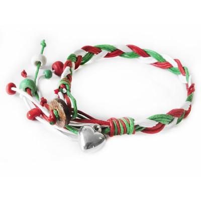Bracciale intrecciato con i colori della bandiera italiana