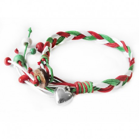 Braided Bracelet Italy Flag