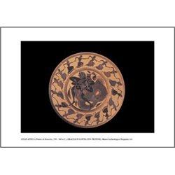 KYLIX A FIGURE NERE ERACLE IN LOTTA CON TRITONE Museo Archeologico, Tarquinia