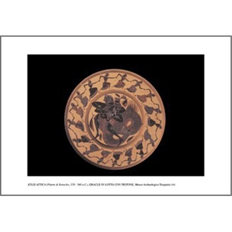 A BLACK-FIGURE KYLIX REPRESENTING THE STRUGGLE BETWEEN HERCULES AND TRITON  Archaeological Museum, Tarquinia
