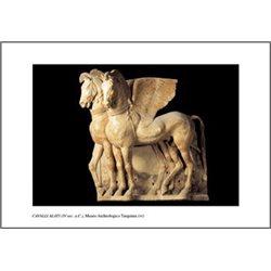 WINGED HORSES (4th century) Archaeological Museum, Tarquinia