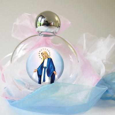 Bottiglietta vetro Prima Comunione con sacchetto organza