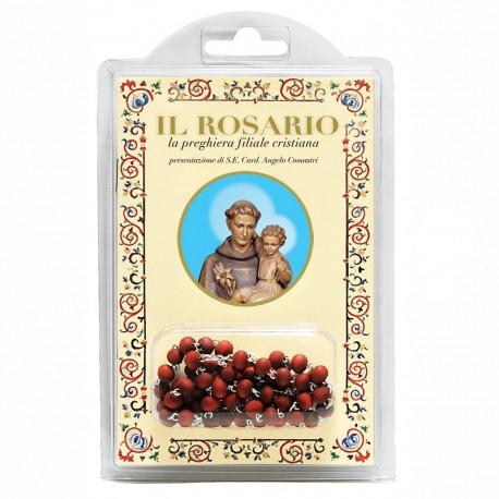 """Sant' Antonio - Libretto """"Il Rosario, la preghiera filiale cristiana"""" con rosario in legno profumato"""