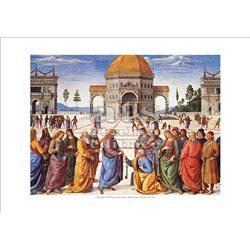 CONSEGNA DELLE CHIAVI Perugino -  Cappella Sistina, Citta' del Vaticano