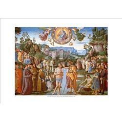 BATTESIMO DI CRISTO Perugino - Cappella Sistina, Citta' del Vaticano