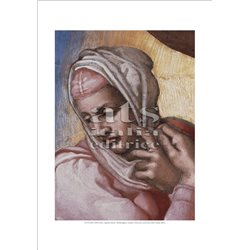 GIUDIZIO UNIVERSALE VERGINE MARIA Michelangelo -  Cappella Sistina, Citta' del Vaticano