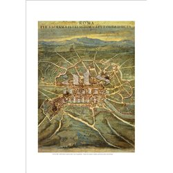 MAP OF LATIUM ET SABINA (detail) Ignazio Danti - Gallery of Maps, Vatican City