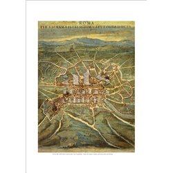 PIANTA DEL LATIUM ET SABINA (particolare) Ignazio Danti - Galleria delle Carte Geografiche, Citta' del Vaticano