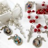 Rosary with resinated medals