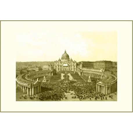 ST PETER'S SQUARE AND BASILICA Benoist - Colour Print
