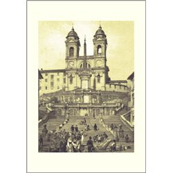 CHIESA DELLA TRINITA' DEI MONTI Benoist - Colour Print