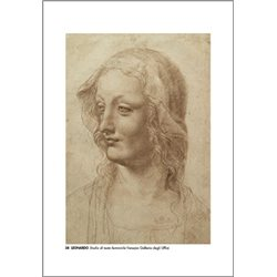 STUDY OF FEMALE HEAD Leonardo - Galleria degli Uffizi, Florence