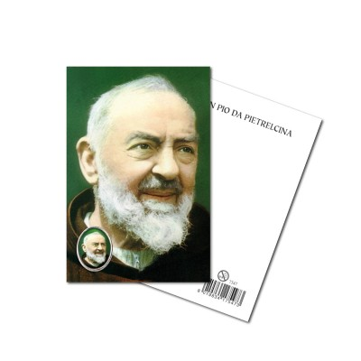 SAINT PIO - Metal pin with Holy Picture