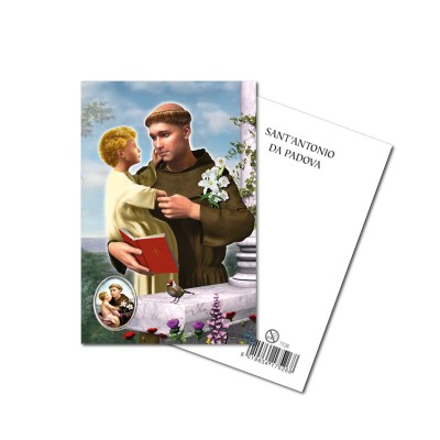 SAINT ANTONY - Metal pin with Holy Picture