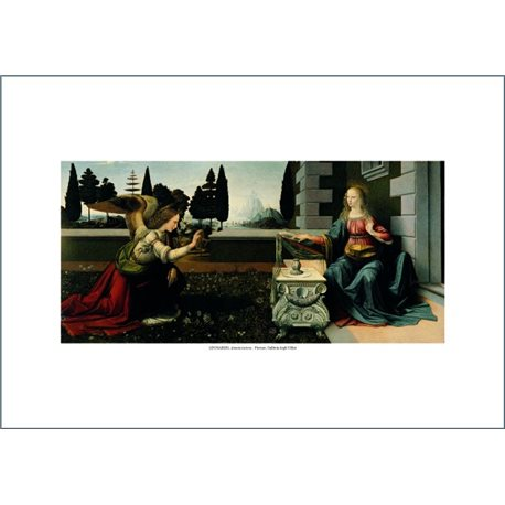 ANNUNCIATION Leonardo - The Uffizi Gallery, Florence