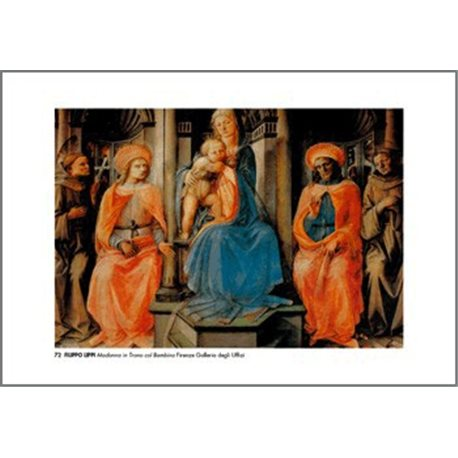 THE MADONNA ENTHRONED WITH CHILD Filippo Lippi - The Uffizi Gellery, Florence