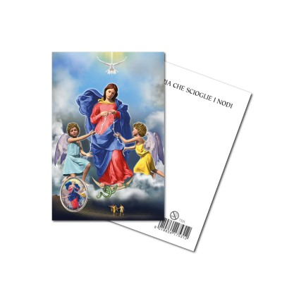 OUR LADY UNTIER OF KNOTS (NEW)  - Metal pin with Holy Picture