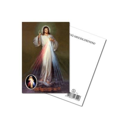 MERCIFUL JESUS - Metal pin with Holy Picture