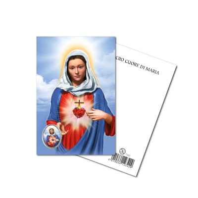 IMMACULATE HEART OF MARY - Metal pin with Holy Picture