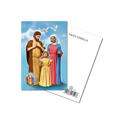 HOLY FAMILY - Metal pin with Holy Picture