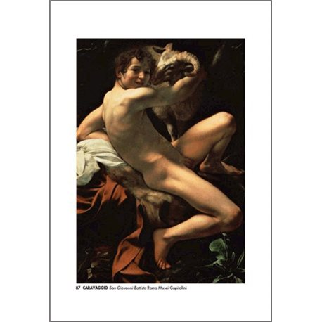 ST JOHN THE BAPTIST Caravaggio - National Gallery in Corsini Palace, Rome