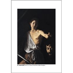 DAVID AND GOLIATH Caravaggio - Borghese Gallery, Rome