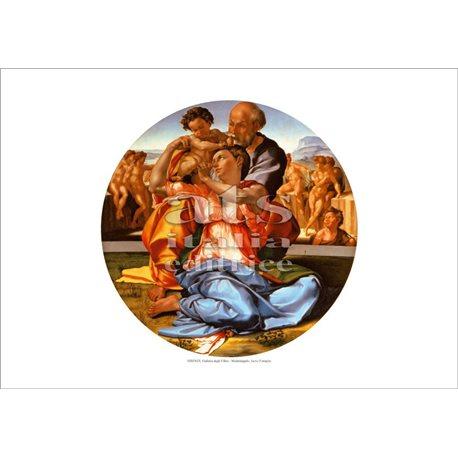 LA SACRA FAMIGLIA - TONDO DONI Michelangelo - Galleria degli Uffizi, Firenze
