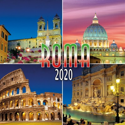 Calendar 8x8 cm ROME MOUNTING NIGHT