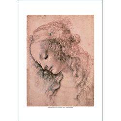 DISEGNO DI TESTA FEMMINILE Leonardo, Galleria degli Uffizi - Firenze