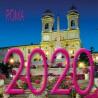 Calendario 8x8 cm ROMA PIAZZA DI SPAGNA NOTTE