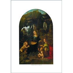 VERGINE DELLE ROCCE Leonardo, Louvre - Parigi