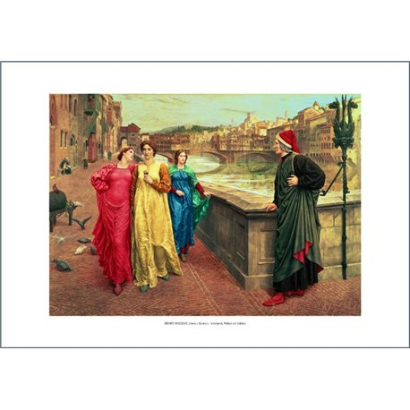 DANTE E BEATRICE Henry Holiday, National Museum - Liverpool