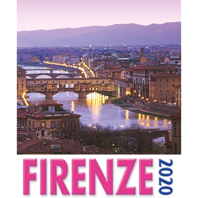 Calendar 16x17 cm FLORENCE - OLD BRIDGE (PINK)