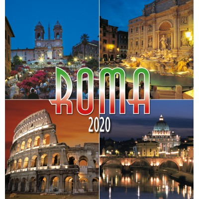 Calendar 31x34 cm ROME MOUNTING NIGHT