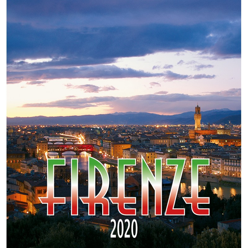 Calendario Panorama.Calendario 31x34 Firenze Panorama Notte